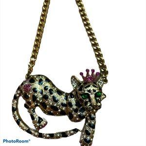 Betsey Johnson Large leopard chocker *Rare